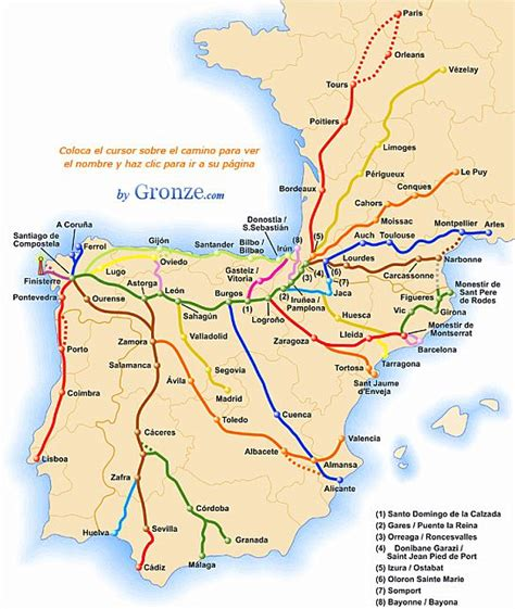 camino de santiago pilgrimage route the varied routes on the camino de santiago or the way of