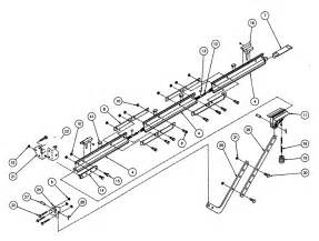 Overhead Door Garage Door Opener Parts Rail Assy Diagram Parts List For Model Isl980 Genie Parts Garage Door Opener Parts