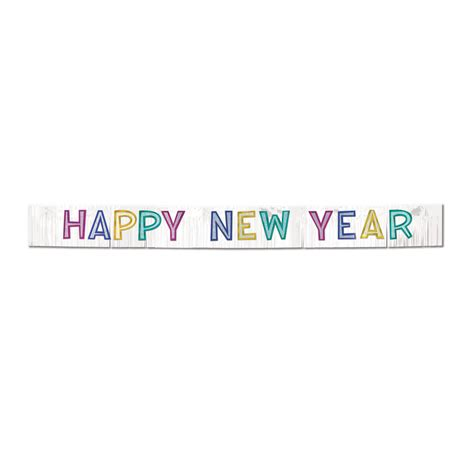 happy new year banner metallic happy new year banner caufields