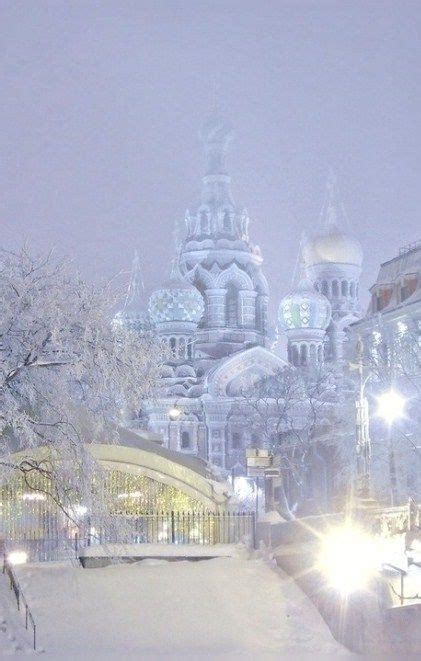St Snow winter evening in st petersburg russia future