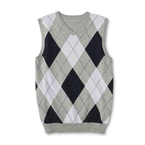 Sweater Boys simply styled boys sweater vest argyle