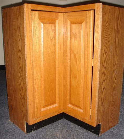 oak corner turnstile rotating kidney lazy susan base