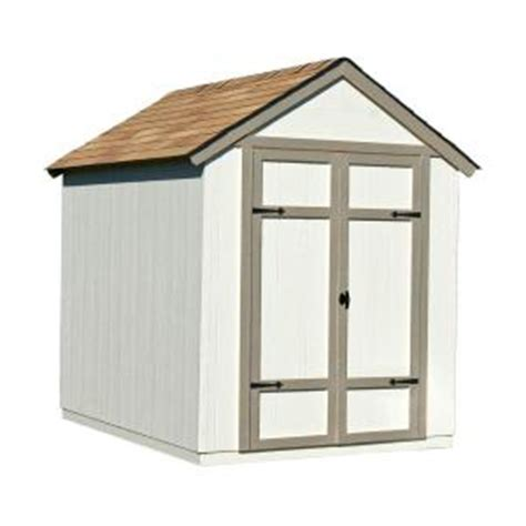 diy shed kit home depot handy home products sherwood 6 ft x 8 ft wood shed kit