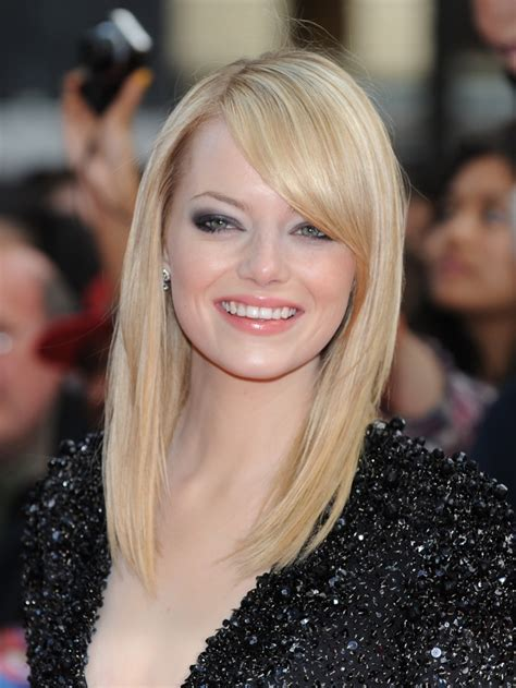 Haircut For Long Rebonded Hair | emma stone hair color her hairstyle timeline