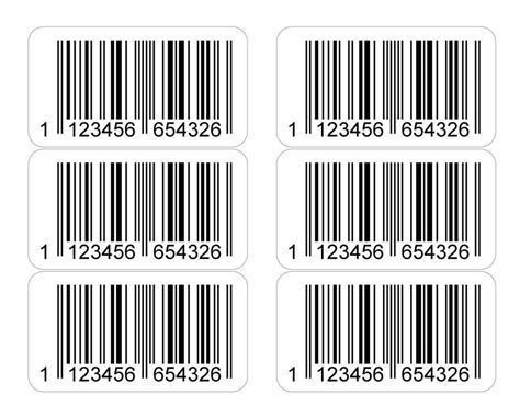 Label Barcode Ukuran 52 X 25mm ean printed barcode number stickers 20 000 sticky labels