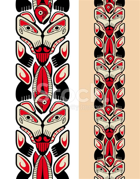 haida style seamless pattern stock vector freeimages com
