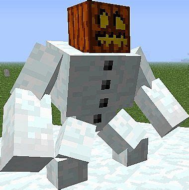 Minecraft Papercraft Snow Golem - minecraft mutant snow golem papercraft www pixshark