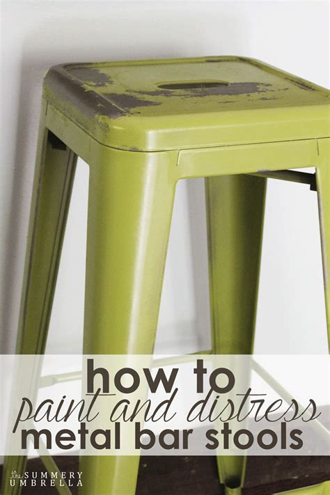 Painting Metal Bar Stools how to paint and distress metal bar stools like a pro