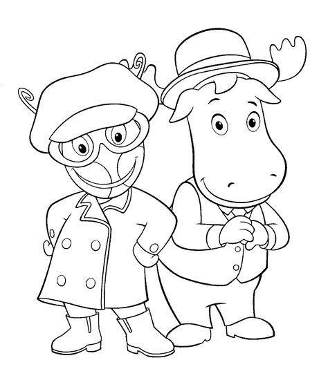 free printable backyardigans coloring pages for kids