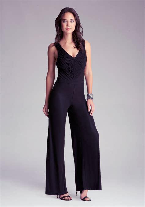 Legged Jumpsuits by Bebe Wide Leg Jumpsuit In Black Lyst