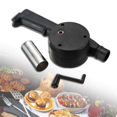 barbecue fan air blower προϊόν yotop stainless steel bbq fan manually
