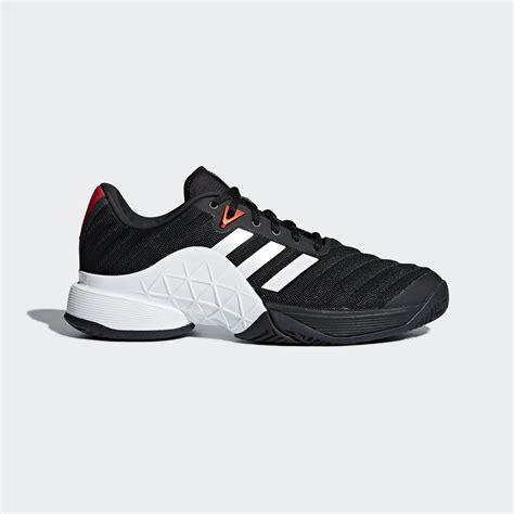 adidas mens barricade  tennis shoes blackwhite