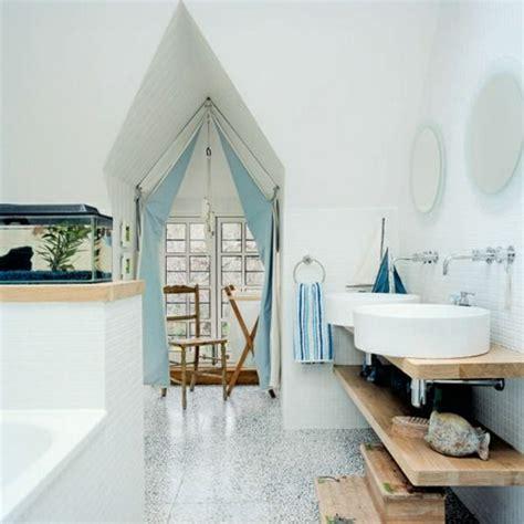 Badezimmer Deko In Blau by Maritime Badezimmer Deko Selbst Machen Blau Vorhang