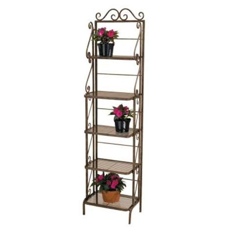 Small Bakers Rack by Plant Stand Rack Br107 The Home Depot