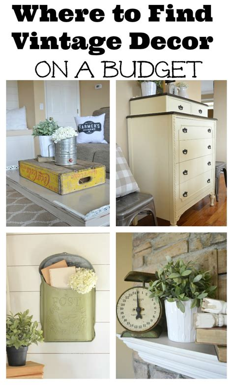 decorating your home on a budget where to find vintage decor on a budget
