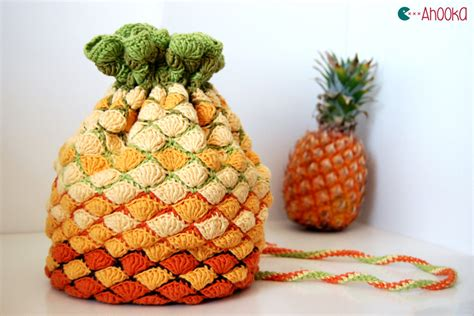 Crochet Bag Pineapple Pattern | pineapple crochet bag pattern for win ahookamigurumi