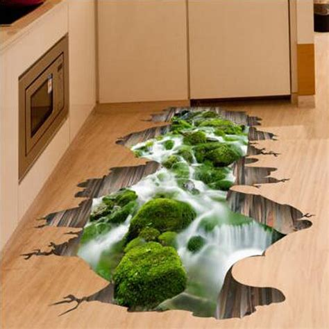3d floor decor wall sticker removable mural decals