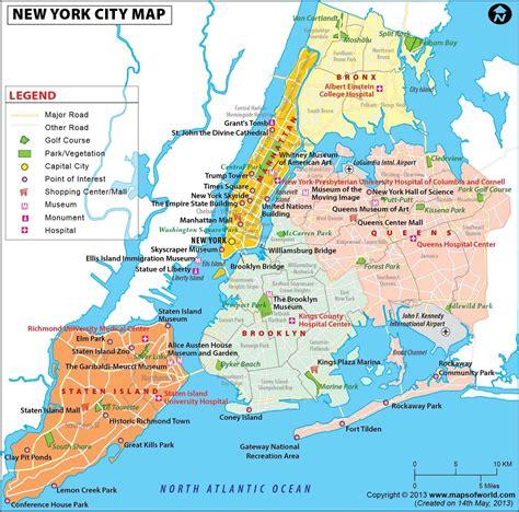 new york city map nyc city map eine karte new york city new york usa