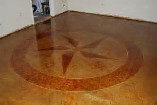 custom design concrete scoring stained floor esr