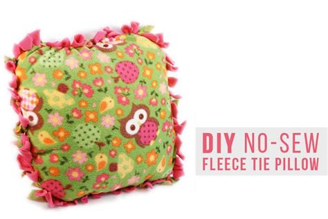 No Sew Fleece Pillow by This No Sew Fleece Pillow Is So Simple To Make It S A