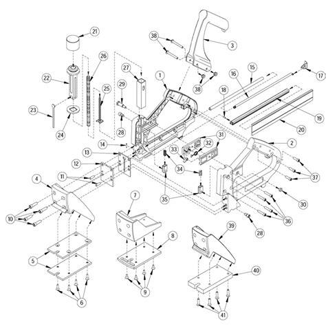 floor l parts diagram porta nails 402 16ga manual flooring nailer parts
