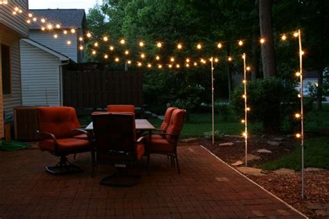 support poles  patio lights   rebar  electrical conduit outdoors pinterest