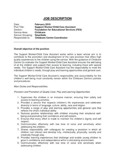 sle resume daycare provider daycare worker description thevillas co