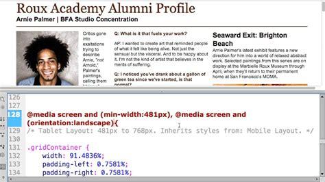 responsive web design using dreamweaver cc css designer responsive design with dreamweaver cc