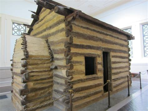Abraham Lincolns Cabin by Bird S Yellow House Abe From Beginning To End