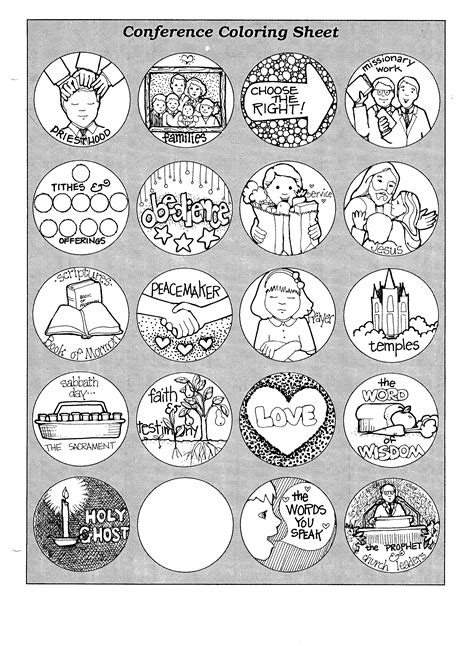 general conference coloring page jenny smith s lds ideas