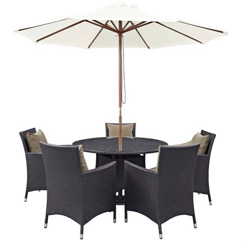 7 outdoor patio dining set convene 7 outdoor patio dining set modern in designs