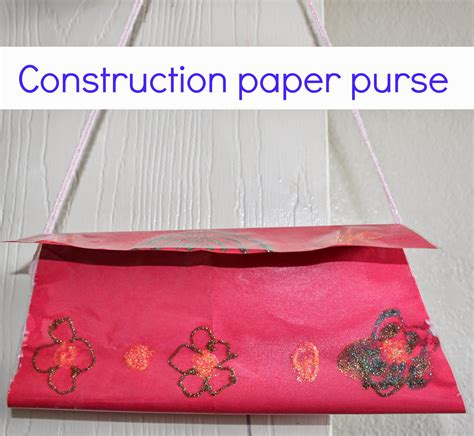 How To Make A Construction Paper - construction paper purse sparklingbuds