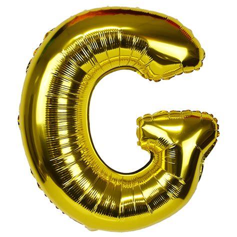 Balloon Letter G 30 quot foil mylar balloon gold letter g