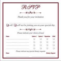 Dinner Response Card Template by Sit Plated Dinner Rsvp Cards Can You Post Some Pics