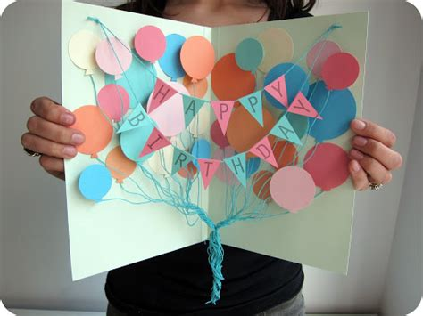 Craft Birthday Card Ideas For A Song Diy Birthday Card And Balloon Crafts