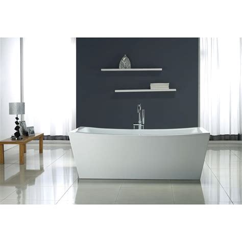 ove decors bathtub ove decors 5 8 ft terra center drain bathtub in white terra 70 the home depot