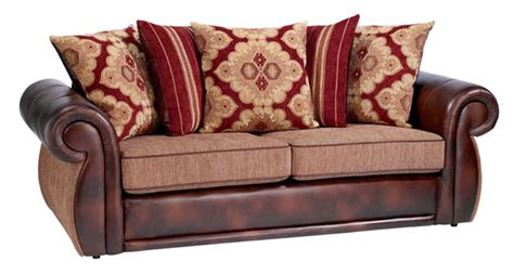 leather sofa with cloth cushions bing images couch