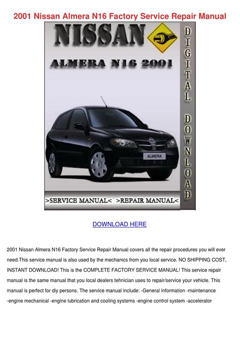 small engine repair manuals free download 2001 nissan quest on board diagnostic system 2001 nissan almera n16 factory service repair by edisoncrespo issuu