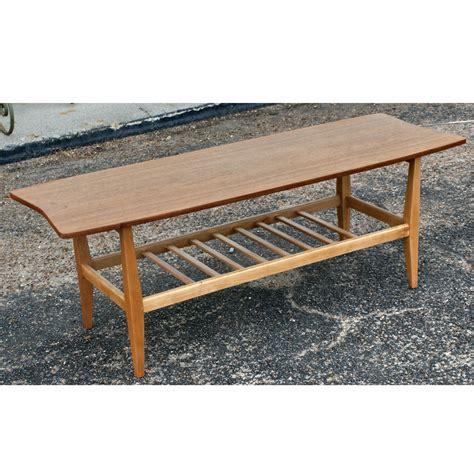 47 quot vintage style oak two tier coffee table ebay