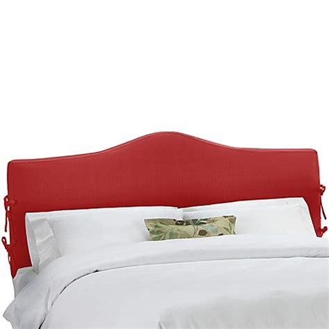 red headboard double buy skyline furniture darcy slipcover twin headboard in