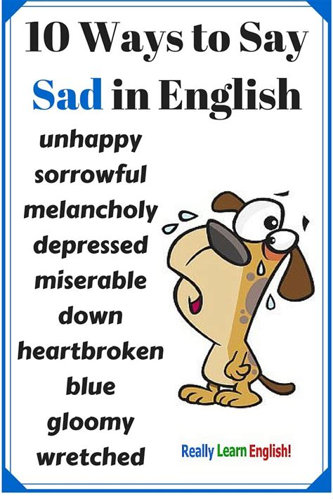 learn english with pictures and video 10 ways to say sad in english learn to speak english