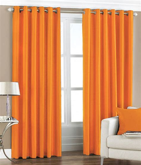 orange blackout curtains pair of bright orange blackout eyelet curtains 53 quot wide x