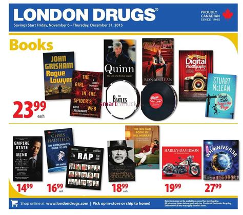this is london book london drugs books flyer november 6 to december 31