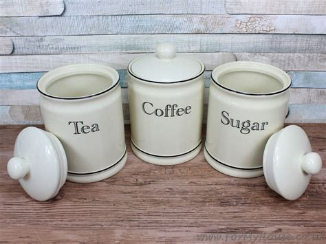 coffee kitchen canisters ceramic tea coffee sugar canister kitchen storage set ebay
