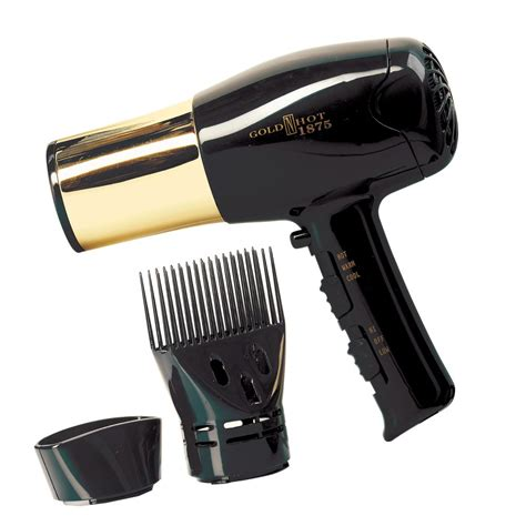 Gold N Hair Dryer Diffuser gold n dryer with gold barrel and styling pik
