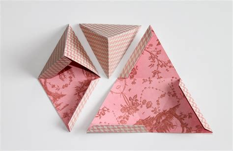Gift Paper Craft - diy triangle gift boxes paper craft crafts to do