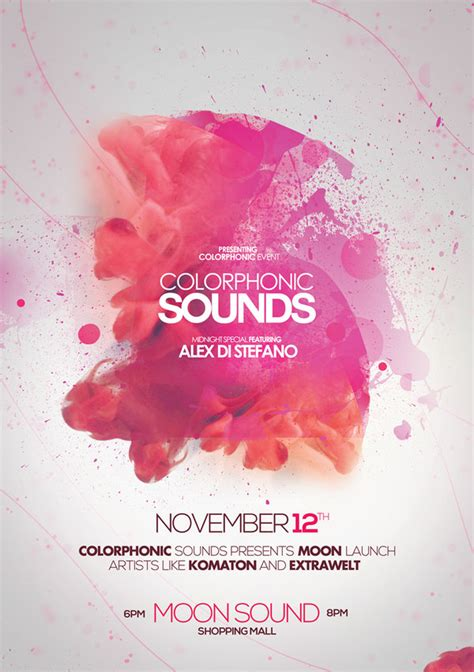 event flyer layout ideas colorphonic sounds poster flyer by dusskdeejay on deviantart