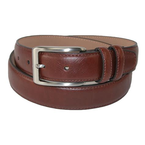 mens leather 32mm belt with loop keeper by dockers