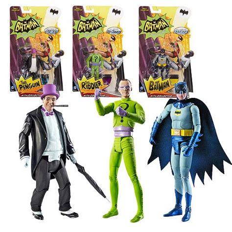 Figure Batman Set 4 batman classics 1966 tv series wave 1 figure set mattel batman figures at