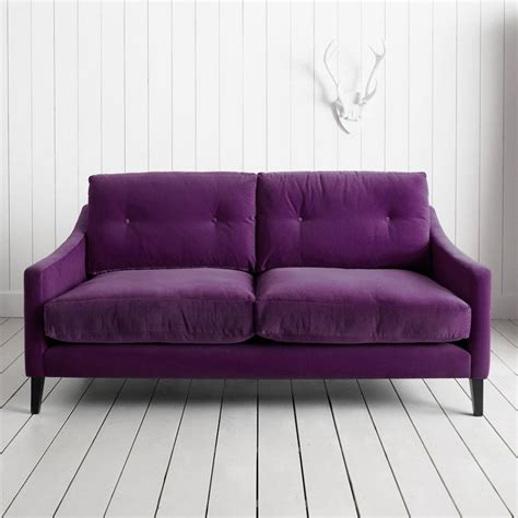purple settee are you sitting comfortably luxurious velvet sofas on